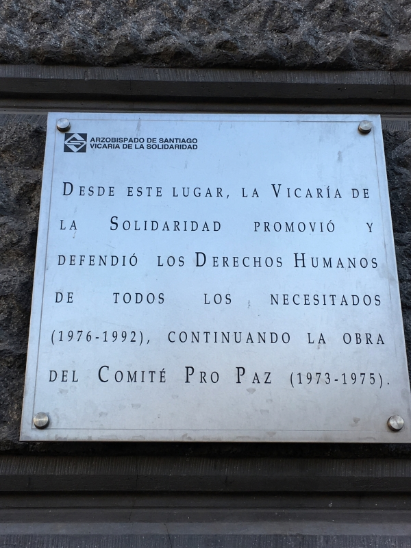 plaque outside of the Original Vicariate