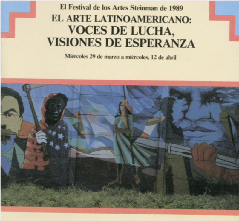 photo of a program with a mural on the front