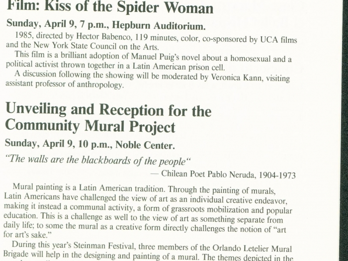 Page 20 of the 1989 Steinman Festival Pamphlet