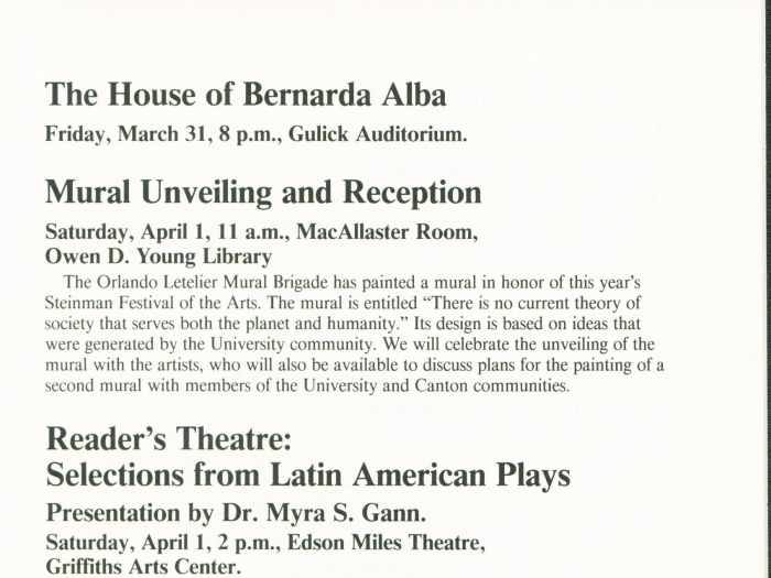 Page 8 of the 1989 Steinman Festival Pamphlet
