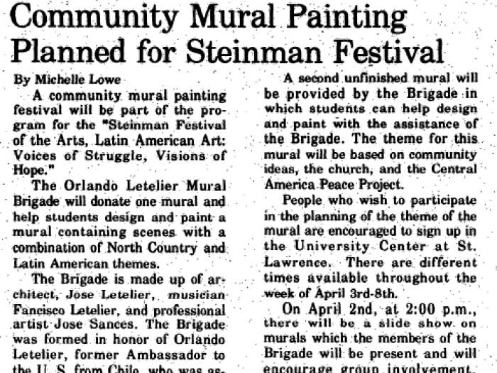 A Hill News article on the community mural