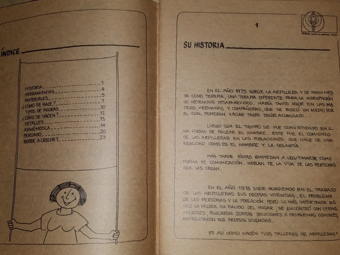 Index and history to arpillera manual