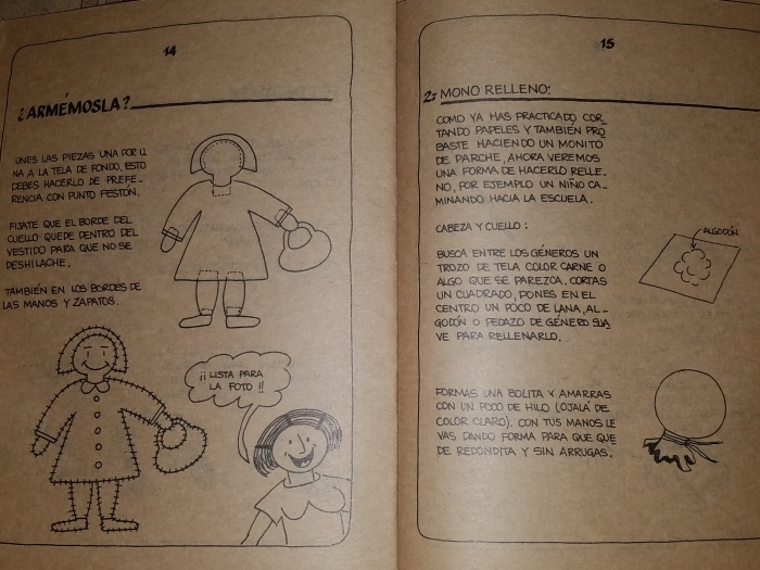 Arpillera doll construction
