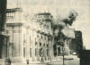 Smoke coming out of Moneda Palace after the bombing in 1973